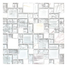 "12""x12"" Mosaic Icy Pure, Icy, Set of 10"