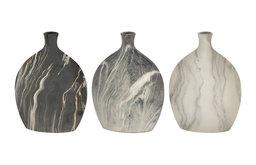 """Ceramic Vase 3-Piece Set, 9""""x13"""""""