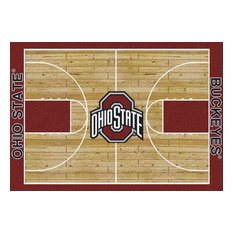"Ohio State University Basketball Court Rug, 3'10""x5'4"""