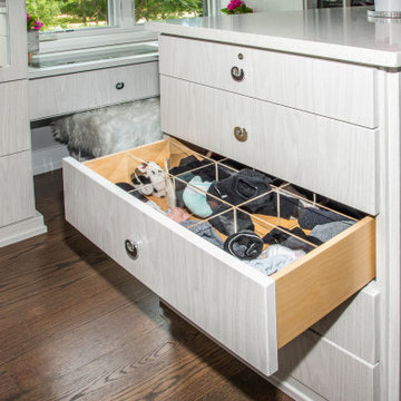 Storage Drawer for Lingerie in Closet Island