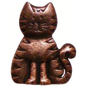 Cat Cabinet Knob, Antique Copper