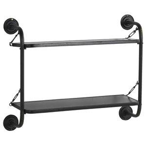 Black Metal Wall Shelf