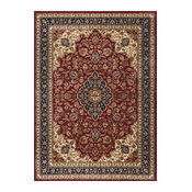Kirsten Traditional Oriental Red Rectangle Area Rug, 9' x 12'
