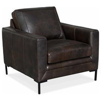 """Hooker Furniture SS445-01 34"""" Wide Wood Framed Leather Arm Chair from the Coltr"""
