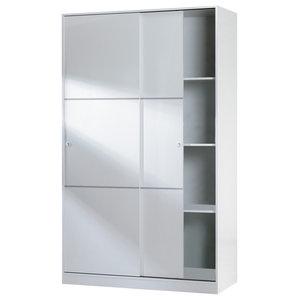 Warda Sliding 2 Door Wardrobe, White