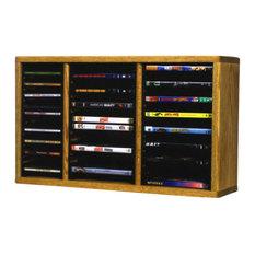 CD Racks - Solid Oak Desktop Or Shelf For Cd'S And Dvd'S - Media Racks ...