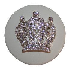 "Princess Crown Knob, 1.5"", Gold Glam"