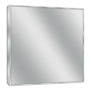 Spectrum Brush Nickel Wall Mirror, 30 X 36