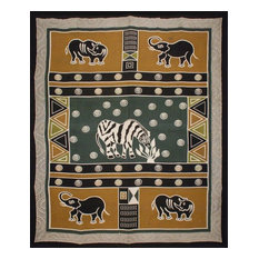 India Arts   Handmade Cotton African Animal Print 100% Cotton Tapestry  Tablecloth   Tablecloths