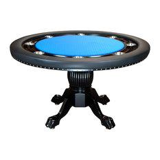 BBO Poker Tables   BBO Poker The Nighthawk Premium Round Poker Table, Blue  Suited Speed