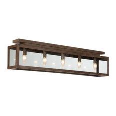 Zenia 5-Light Ceiling Light, Rust