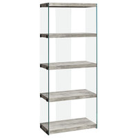 Monarch Reclaimed Wood-Look Bookcase, Gray