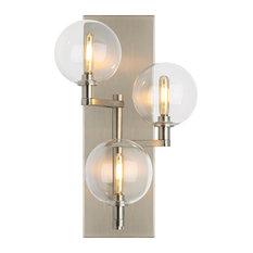 Tech Lighting Gambit Triple Wall Light, Satin Nickel