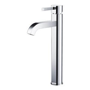 Kraus Ramus Single Handle Vessel Bathroom Faucet, Chrome