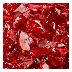 "Crushed Fire Glass   10 lbs, Marlboro Red   3/8""-1/2"""
