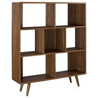 Cube Wood Bookcase, Walnut