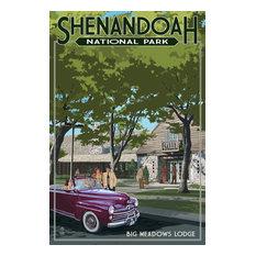 """Shenandoah National Park, Virginia, Big Meadows Lodge"" Print, 12""x18"""
