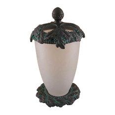 Oak Vanity Top Toothbrush holder, Bronze with Copper