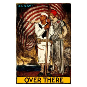 1918 /'Back our girls over there Y.W.C.A poster modern office wall art