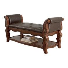 Ashley Furniture Homestore   Ledelle Upholstered Bench, Brown   Upholstered  Benches