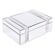 Mop Stripes Mirror Box, Beige