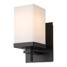 Maddox 1-Light Wall Sconce in Matte Black
