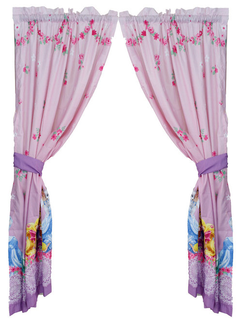 Patterned Kids Curtains Ctwotop Com Source · Franco Manufacturing Company  INC Disney Princess Curtain Set Palace Pets Window Panels Curtains