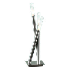 Icicle Table Lamp - Brushed Nickel
