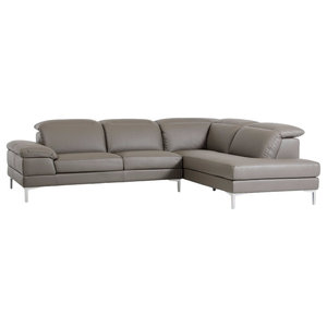 Peachy Baxton Studio Dobson Leather Modern Sectional Sofa Gmtry Best Dining Table And Chair Ideas Images Gmtryco