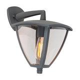 Modern Outdoor Wall Lantern Down Dark Grey - Platar