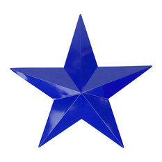 """Northlight Seasonal - Country Rustic Star Indoor/Outdoor Wall Decoration, Navy Blue, 24"""" - Outdoor Holiday Decorations"""