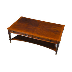 Large Mahogany Coffee Table. Oversized Coffee Tables