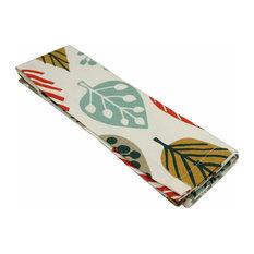 McAlister Textiles Magda Napkins Leaf Design, Terracotta Orange, Set of 4