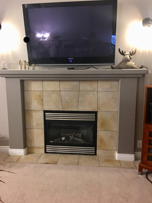 I Paint The Fireplace Tile, Can You Paint A Tile Fireplace Surround