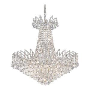 Elegant Victoria 11-Light Chrome Chandelier Clear Spectra Swarovski