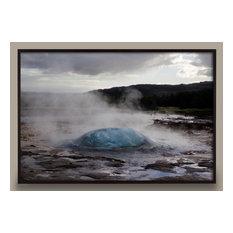 """Iceland #8, 48""""x32"""" Framed, White"""