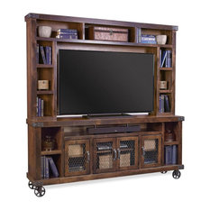 Aspenhome Industrial-TOB 84-inch TV Console With Hutch Tobacco