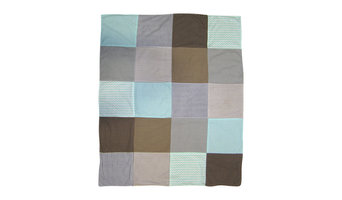Printed Receiving Blanket, Cocoa Mint