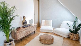 Komplette Inneneinrichtung einer Eigentumswohnung - Loungebereich