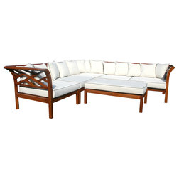 Transitional Outdoor Lounge Sets by Chic Teak