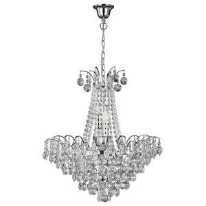 Limoges 6-Light Chrome Crystal Chandelier