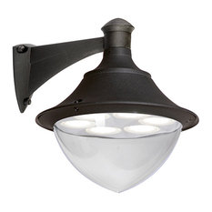 Gunther Black Outdoor Wall Light, GX35
