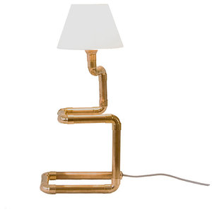 Climbing Copper Pipe Table Lamp