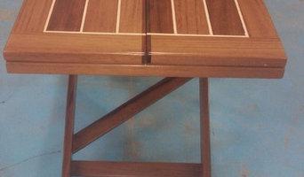 mesa barco de teka