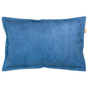Rectangular Cotton Cushion, Blue