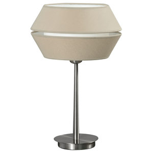 Anubis Table Lamp, Stone and Satin Nickel