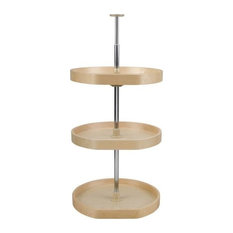 Rev-A-Shelf LD-4BW-263-2036-1 Lazy Daisy Banded Wood 3 Shelf Lazy Susan Set