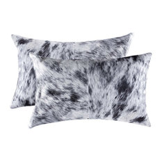 "12"" x 20"" Black And White 2 Pack Kobe Cowhide Pillow"