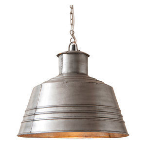 Country new distressed STOCKBRIDGE rusty punch tin hanging ceiling light //nice