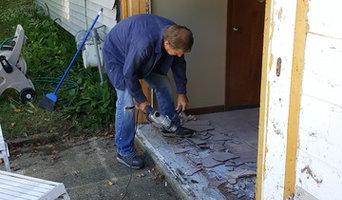 Removal of sliding door then install Windows